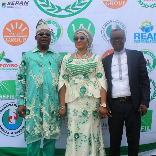 From right Dr Sunny, Mrs Babara and Bishop Onyeke Onyeke
